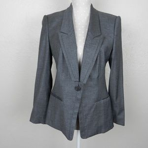 Boss by Hugo Boss Jellen Gray Single Button Blazer